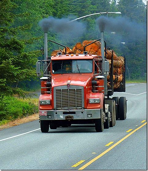 Log truck US 101 3