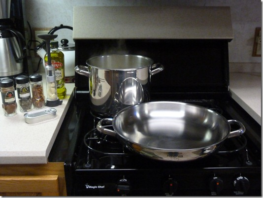 Steaming frontal stovetop