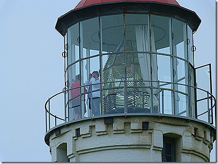Peopel in lighthouse