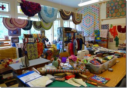 Quilt work room