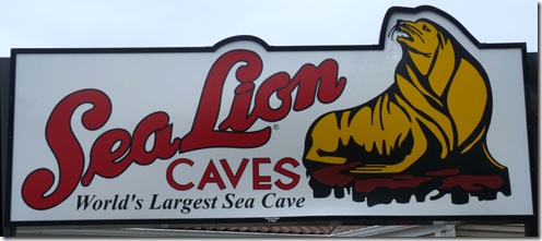 Sea Lion Caves sign