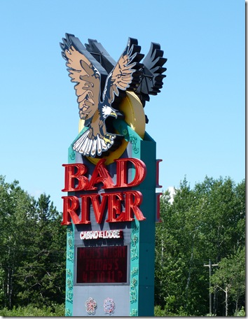 Bad River Casino sign