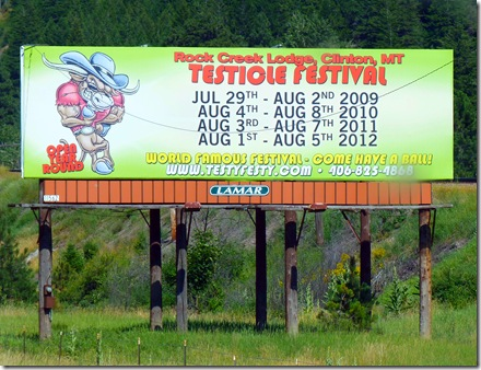 Testicle Festival sign