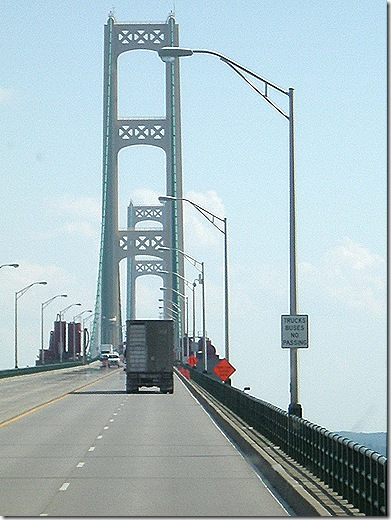 Mackinac Bridge up high 3