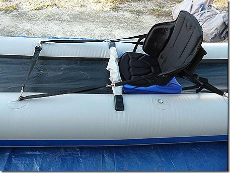Kayak seat straps