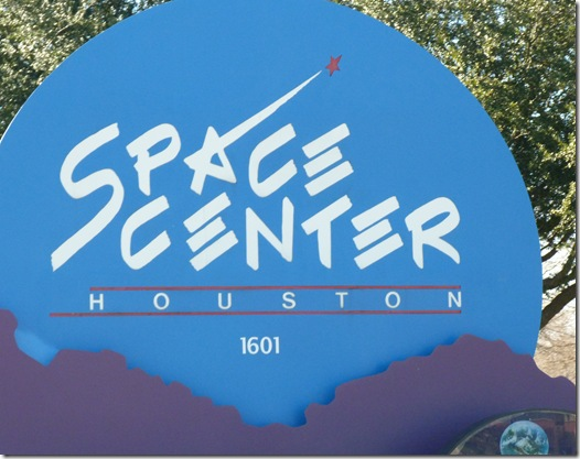 Space Center Houston sign