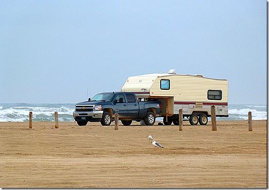 Fiver on beach