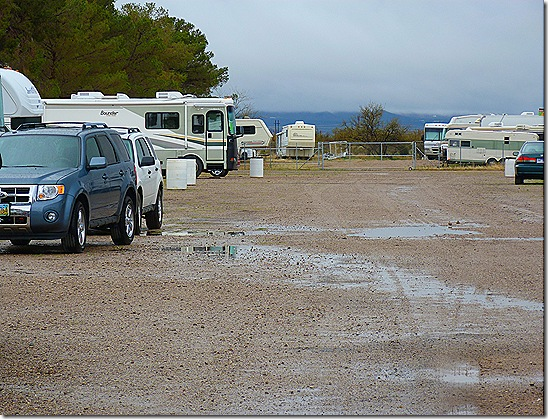 Fairgrounds RV park rain