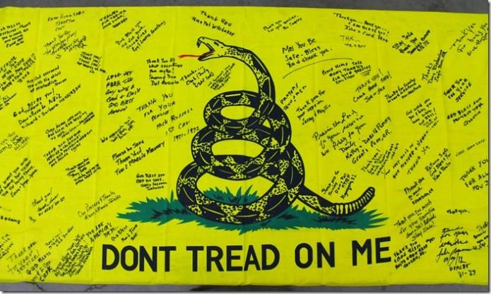 Signed flag