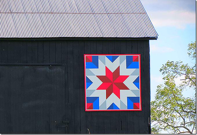 Quilt on barn