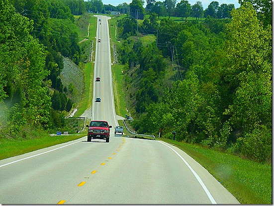 Steep Indiana road