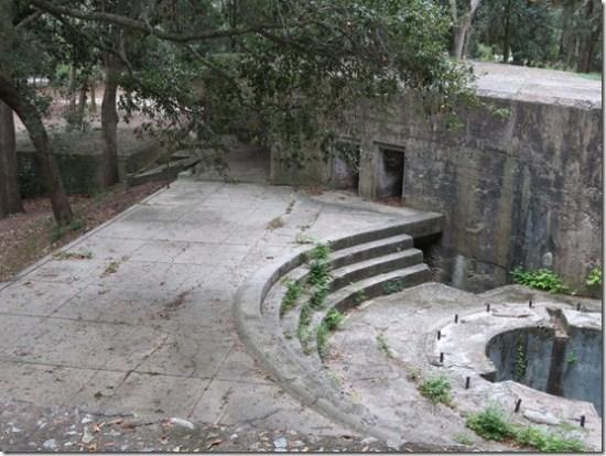 Fort Fremont gun emplacement