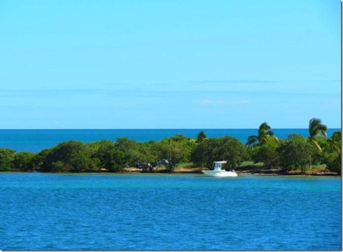 Boat near Keys island