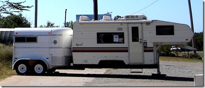 Chandler, Oklahoma fifth wheel horse from Carolyn