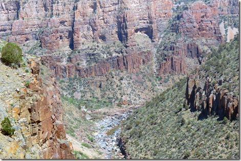 Canyon bottom view