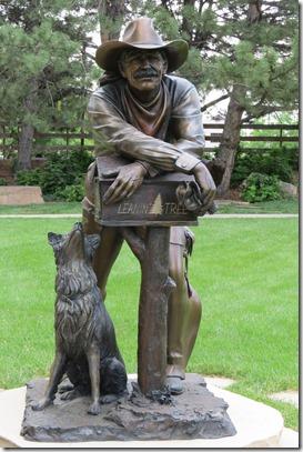 Mailbox statue