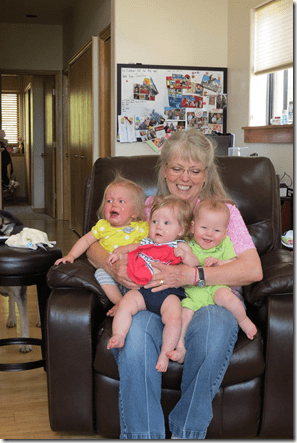 Terry with 3 Grands blog