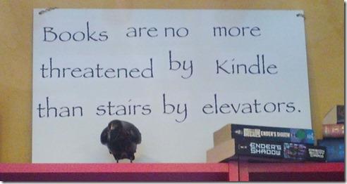 Books Kindle sign