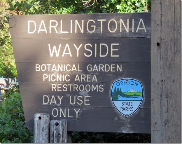 Darlingtonia Wayside sign