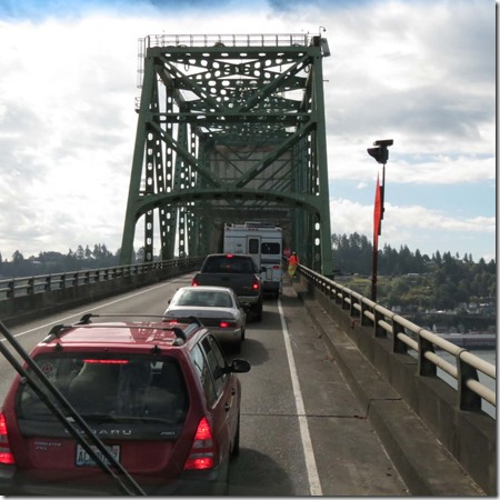 Stopped on bridge