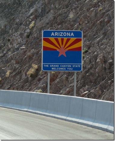 Arizona wlecome sign