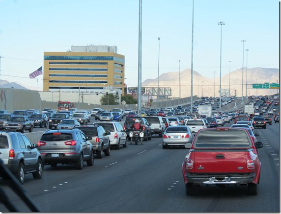 Vegas traffic jam