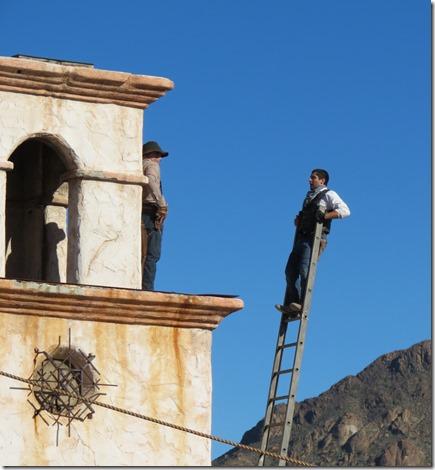 Ladder stuntman