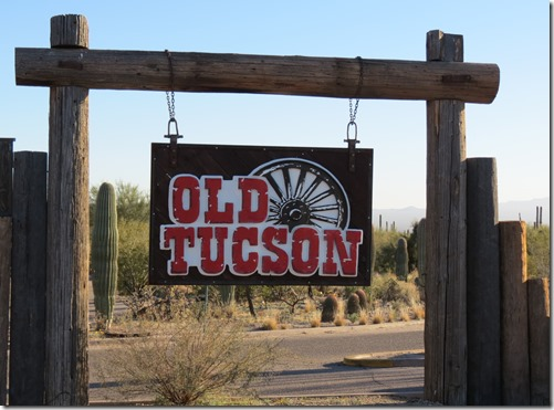 Old Tucson sign