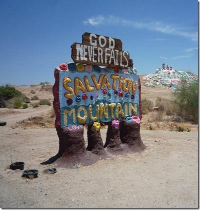 Salvation Mountain sign