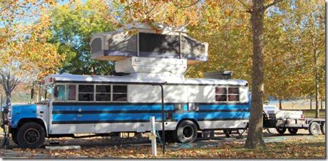 Bus popup Bill Kris Osborne Green River Lake State Park Campbellsville KY