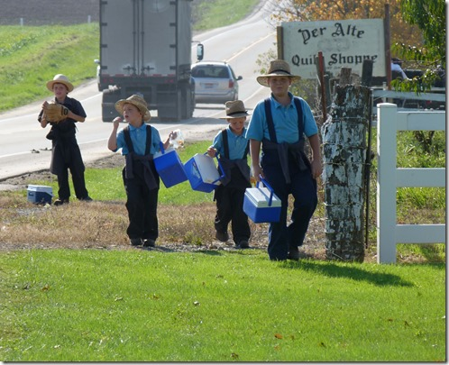 Amish schoolboys