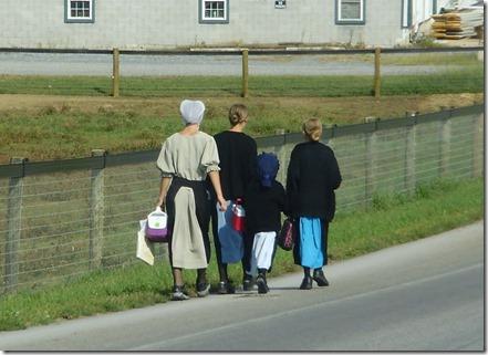 Amish schoolgirls