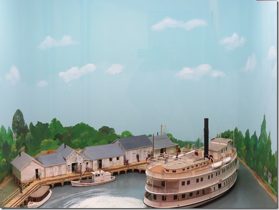 Steamboat diorama