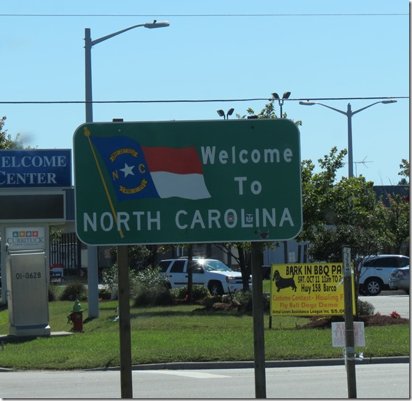 Wecome North Carolina sign