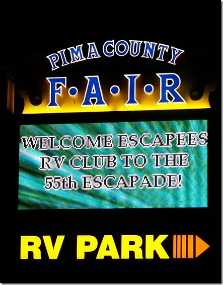 Escapade sign