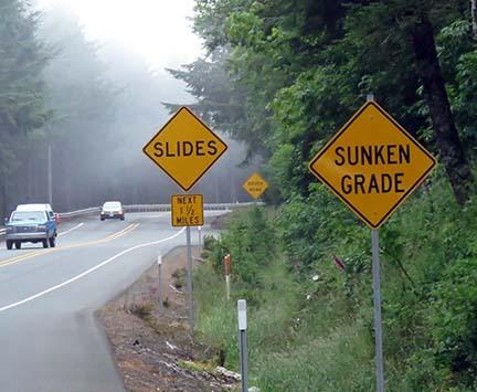 Sunken grade sign small