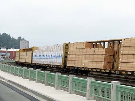 Trainload of lumber small