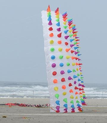 Candy strip kite small