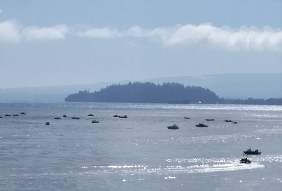 Salmon fishing boats 2 small
