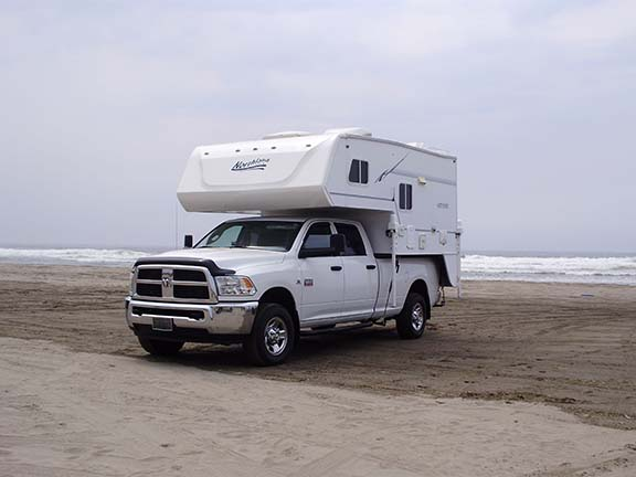 Truck Camper on beach