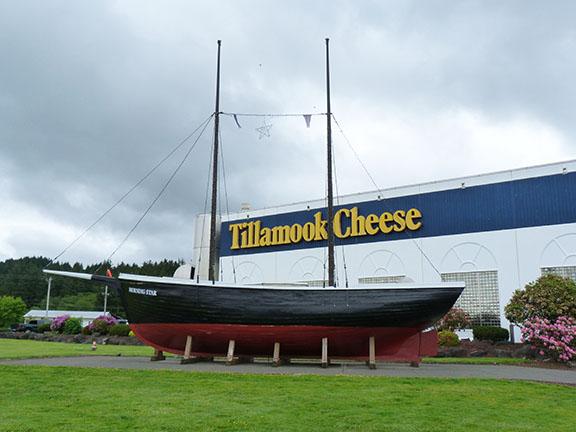 Tillamook Cheese boat