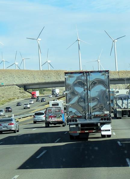 Traffic windmills face small