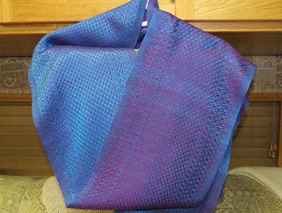 Blue purple scarf small