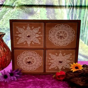 Mandala 4 Drawer Wooden Box