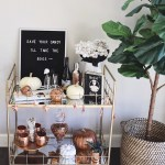 How To Style A Bar Cart Halloween Edition Gypsy Tan