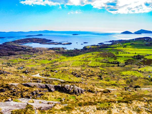 The view from the Skellig Ring, on the Iveragh Peninsula, in Ireland.