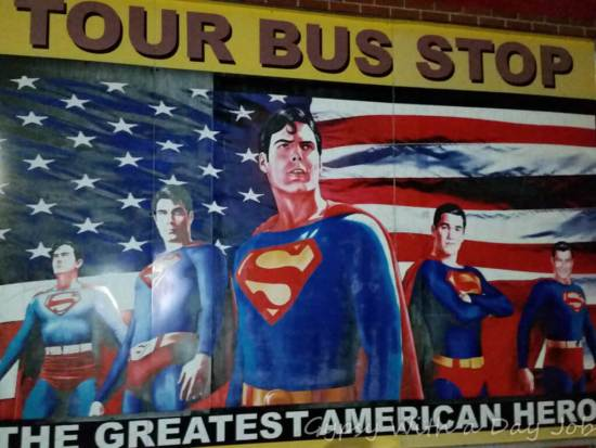 Playing in Metropolis, Illinois, the home of Superman.