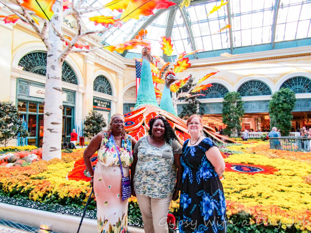 Beautiful Bellagio Botanicals, along with the Bellagio Fountain show, are free for visitors.
