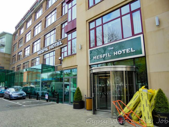 Mespil Hotel, Dublin, on the Ireland Itinerary, our Ireland Highlights.