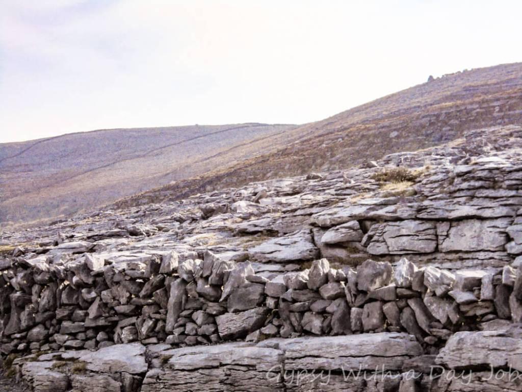 Exploring Irish countryside scenes, dolmen Newcastle..